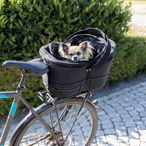 CYKELKURV bagagebære 6 kg stof hund p - Er din hund også dit et og alt?